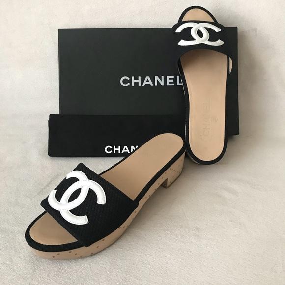 CHANEL Shoes   Chanel Cc Blackwhite
